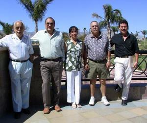 <u><b> 10 de abril </u> </b><p> Ángel Ortiz Cepeda, Miguel de la Torre Cavanzón, N. de Ortiz, Ángel Ortiz y Jorge Monroy