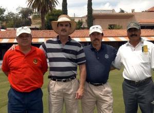 Gerardo Katsicas, Manuel Algara, José Guadalupe Gutiérrez y Rafael Berumen, gozaron de una tarde de entretenimiento.