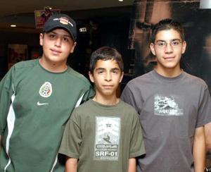 Andrés Martínez, Abraham Moreno y Aníbal Fajer.
