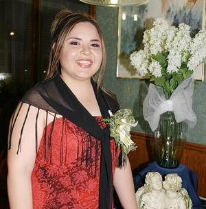 Gabriela Rodríguez Ruiz contraerá matrimonio el próximo primero de mayo con Ramón Romero Cuevas.