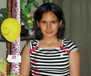 Rocío Asúnsolo Izaguirre, captada en su fiesta de cumpleaños.