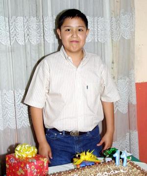 Mario Alejandro Garay Contreras, el día que cumplió once años de vida.