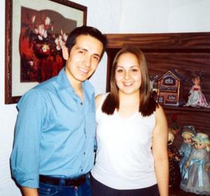 Érick Gámez y Brenda Alonso, en pasado acontecimoento social.