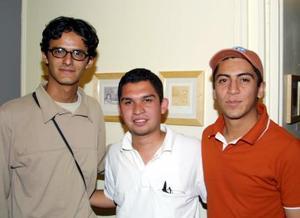 José Juan Zapata, Fernando Rodríguez y Ricardo Violante.