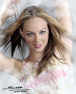 Srita. Melissa Cantú Rosales en una fotografía de estudio; es hija de los señores Dr. Enrique Cantú Brito y Blanca Rosales de Cantú.