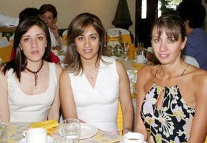 Vivis García de Revuelta, Gaby de Lara Camacho y Vero García de Mélendez.