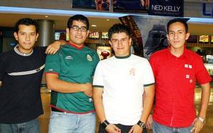 Alejandro Almada, César Augusto Chávez, Manuel Pérez y Eladio Ríos.