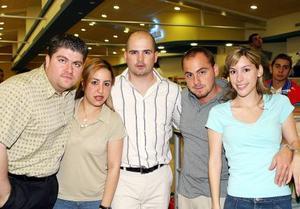Eduardo Bitar, Aída de Bitar, JORGE Chibli, Elías Bitar y Laura Garza.