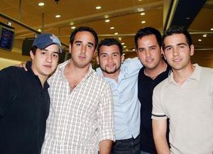 Luis Jaidar, Alejandro Cano, Gc Domínguez, Rogelio Cuéllar y Manolo Fernández.