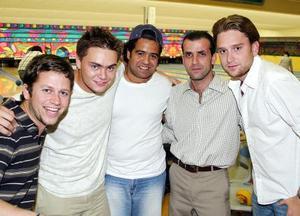 Guillermo Murra, Rodrigo Chowi, Rodrigo Castañeda, Miguel Batarse y Gabriel Villalobos.