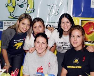 Adriana Díaz, Aída Murguía, Izaskun Amatria, Lizania Agüero y Daniela Hermosillo.