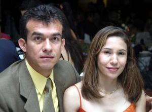 Francisco García Rivera y Corina Murillo de García, en pasado festejo social.