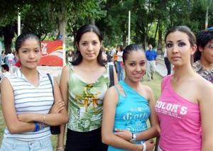 Alhelí Padilla, Rebeca Ramos, Miriam Licón y Deyda Licón.