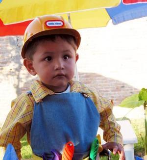 Christian Bustos festejó su tercer cumpleaños de vida, con un divertido convivio.