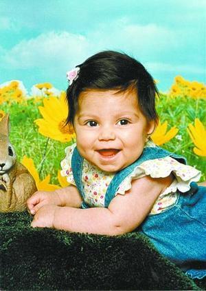 Daniela Sáenz Cortés, en una fotografía infantil por el Día del Niño.