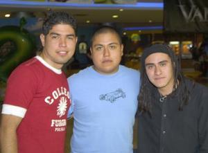 Eduardo Iván Torres, Marco Antonio Olivas y César Miranda.