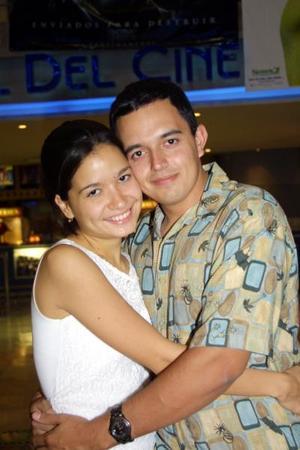 Wendy García y Juan Abusaid.