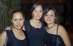Paulina Landeros, Leslie Cano y Karla Lobato.