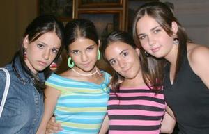 Luisa Bitar, Brenda Bitar, Marcela Gilio y Ana Tere Martínez.