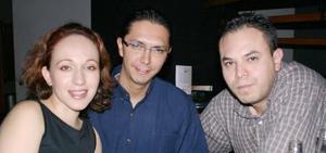 Liliana Soto, Luis Rubén Barragán y Jorge Garza.