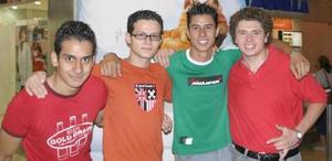 Hugo García, José A. Izaguirre, Rafa Silva y Aarón Ortega.
