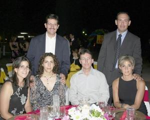 Gabriela S. de Nuñez, Manuel González, Celia S. de González, Diego Berlanga, Roberto Martínez y Sandra P. de  Martínez.