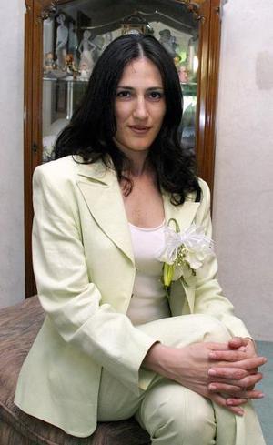 Claudia Padilla Arizpe, captada en una de sus despedidas de soltera.