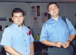Héctor Gallardo y Luis Navarrete llegaron rpocedentes de Monterrey.