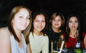 Brenda Alonso, Ángela Palacios, Pilar Iza y Lilia Hernández.