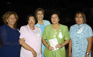 Cuquis Escobedo, Tere Gómez, Hilda Lugo, Yolanda Escobedo y Cuquis Lugo.