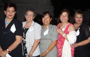 Magdalena URIBE; Laura Gurrola, Patricia Tobías, Elvira Torres y Amelia Izaguirre.