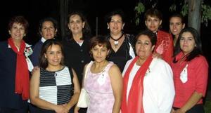 Rocío Moreno, Cecy Gómez, Yolanda Carrillo, Pily Aviña, Rocío Calero, Tere Salmón, Sofía Carrillo, Carmen Salmón, Bety Torres y Lety Enríquez.