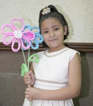 Ana Sofía  López Delgado, captada en los festejos del Día del Niño.