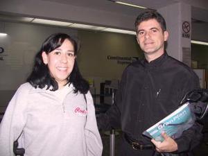 Angelina Herrera y Marcos Carnevale  llegaron de la Ciudad de México.