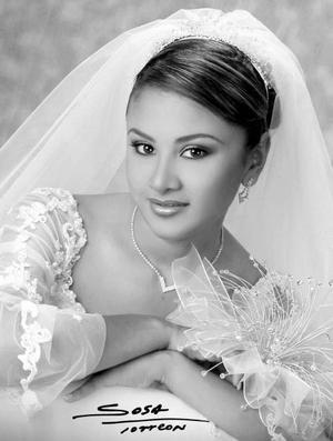 C.P. Claudia Leonor Sámago García el día de su enlace matrimonial con el Ing. Aquiles Aurelio González .