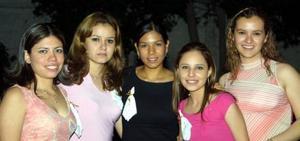Claudia Muñoz Yáñez, elda Martínez, susana Gutiérrez, Vanesa Herrera Martínez e Ileana gutiérrez Vela.