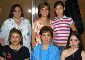 Ileana Gutiérrez de Villarreal, carmelita Lugo de Gutiérrez, Rosy Sordo de Navarrete, Ana Luisa Portales, Nury Ramos Favela y Nury F. de Ramos.