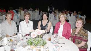 María Luisa T. de Cepeda, Coty L. de Martín, Lolo R. de cepeda, Rosario R. de Garza y Blanca de alba.