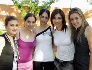 Merci Sada, Judith Hernández, Silvia González, Yadira Nájera y Laura Sánchez.