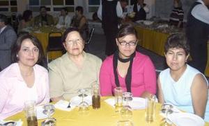 María Rosario Ruiz Acosta, Consuelo Acosta, Cony Martínez y María Teresa Hernández.