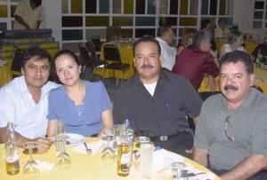 Óscar Gutiérrez, María Gabriela Soto, Santiago Guerrero y Arturo González.