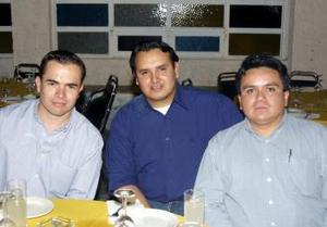 Juan Carlos García, Gilberto Gallado y Oswaldo Gutiérrez.