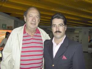 Italo Campodónico fue despedido por Raúl Domínguez, antes de su regreso a la Ciudad de México.