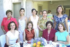 Alicia de Martínez, Bertha Valdez, Martha Ávalos, Mary Carmen Ramírez, Mónica de Pérez, Alma Manjarrez, Coco G. de Hernández, Coco Rentería y Martha de Fahur
