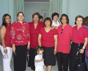 Elisa Marín, Leticia Alba, Carmelita Magallanes, Tere Madera, Mary Sánchez, Paty Ortiz y Paty Jiménez
