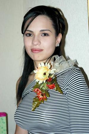 Érika García Guzmán, capatada en la despedida de soltera que le ofrecieron.