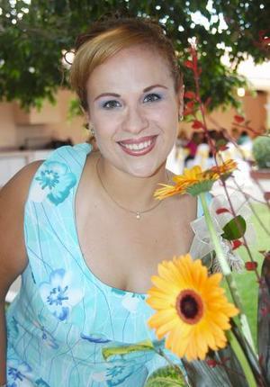 Gabriela del Carmen Saavedra López, captada en su despedida de soltera.