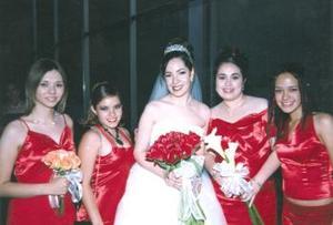 Ada Sonia Flores Rincón en compañia de sis damas Nadia Rincón, Melisa Bugarini, Yasmín Avalos y Anaís Rincón.
