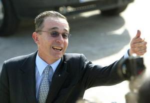 El presidente de Colombia Alvaro Uribe
