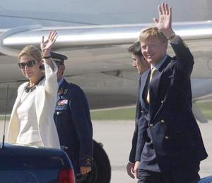 El príncipe holandés Willem Alexander, y su esposa  la princesa Maxima